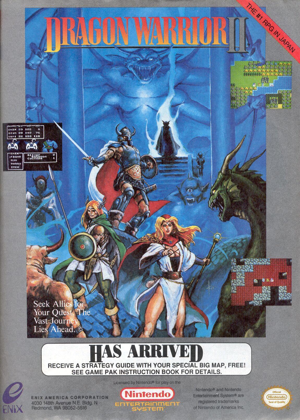 Dragon Warrior Ii Nes Realm Of Darkness Net Dragon Quest And Dragon Warrior Shrine